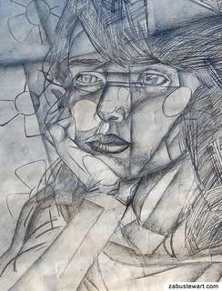 Zabu Stewart - Abstract Portrait (Sketch / Drawing)