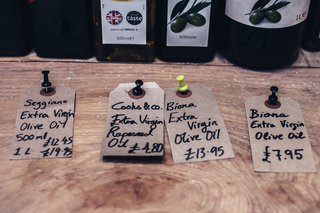 The Hampstead Butcher & Providore - Olive Oil Labels.