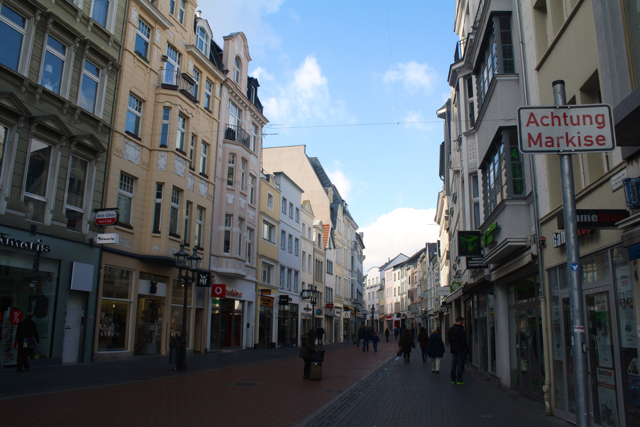One of the main shopping streets in Bonn, Germany