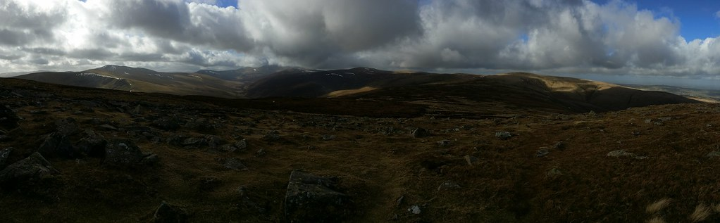 The Northern Fells from Carrock Fell #sh