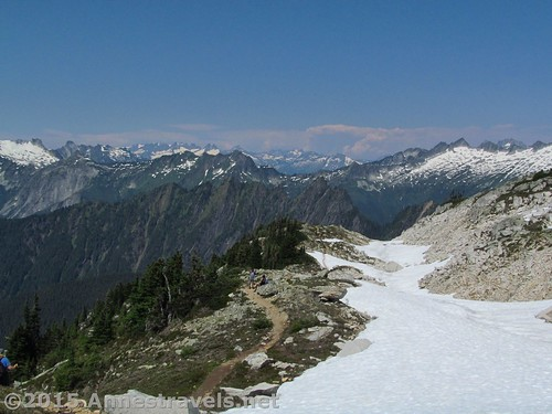 Snowfields along the Hidden Lake Lookout Trail, Mount Baker-Snoqualmie National Forest and North Cascades National Park, Washington