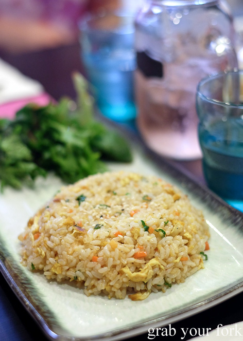 Vegetable fried rice from Seoul Orizin, Haymarket Chinatown