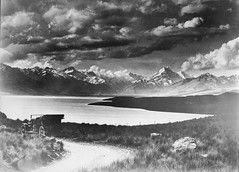 Lake Pukeko with Mt Cook in right background, circa 1918