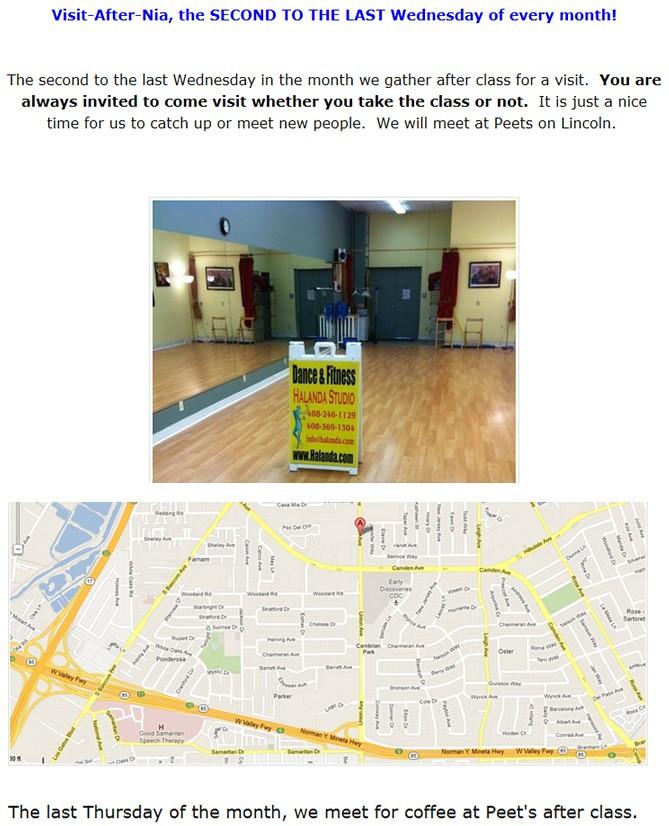 Dance Exercise, Nia, Nia in the City of San Jose,  Nia at the San Jose Community Centers, Nia classes in the South Bay, Nia Teacher, Nia Class, San Jose Nia, Nia San Jose, Nia workout, Nia, Gentle Yoga, Group Ex City of San Jose, San Jose Group Ex classes, YMCA, Zumba, PiYo