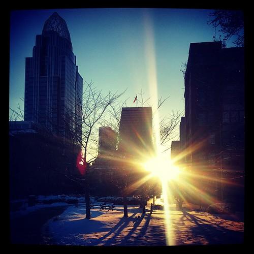 Just one more dusk in downtown Cincinnati...