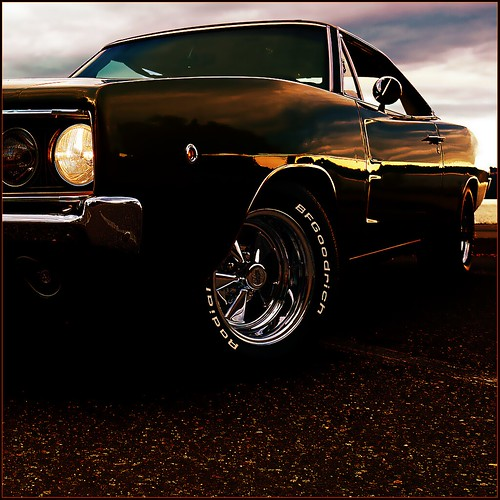 sunset reflection classic car vintage reflections interesting headlight 1968 mopar coeurdalene musclecar bfgoodrich scottcrawford americanmuscle 1968dodge 1968dodgecharger cragars 1968charger 1968dodgechargerrt