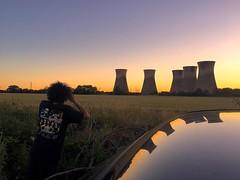 We Shooting ... ah made you look! #driveby #willington #powerstation #sunset