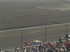 28 Dale Earnhardt Jr. leads Jeff Gordon in the Daytona 500