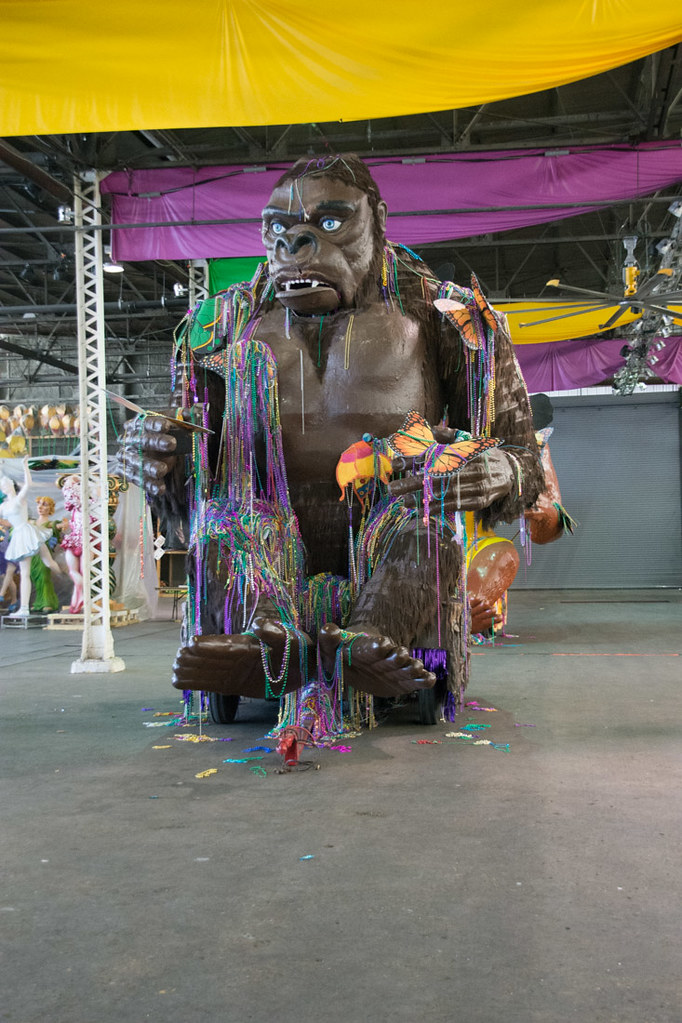 Bacchus Parade Gorilla at Mardi Gras World