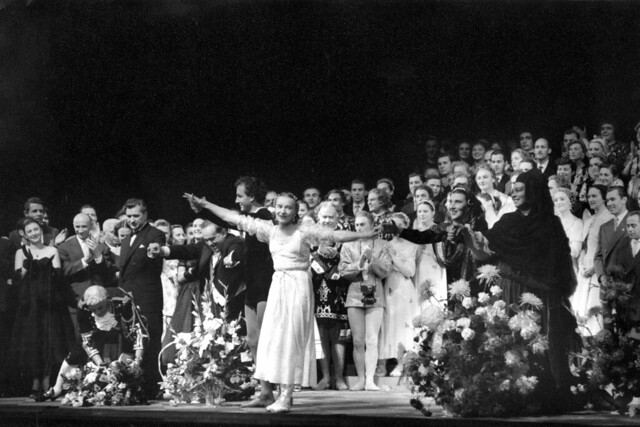 Curtain call after Bolshoi Ballet's performance of Romeo and Juliet at the Royal Opera House, Covent Garden. Photograph by Roger Wood