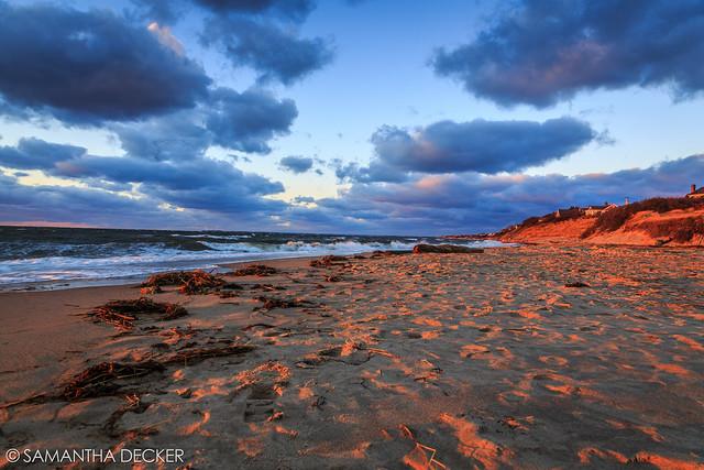 Golden Light Hits the Sand