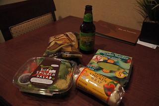 Trader Joe's dinner at hotel room