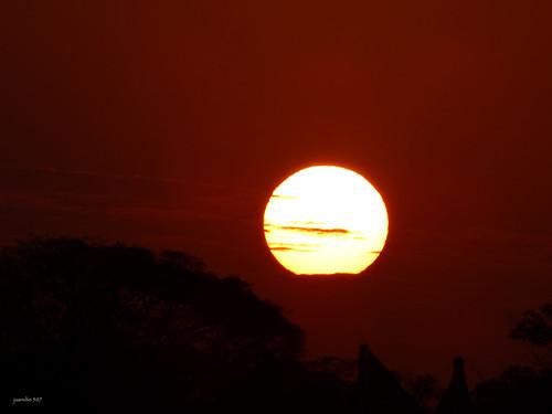 sunset sky sol sunrise circle lumix outdoor panasonic amanecer nubes round lunar panamá diciembre 2014 chorrera juancho507 dmcfz70