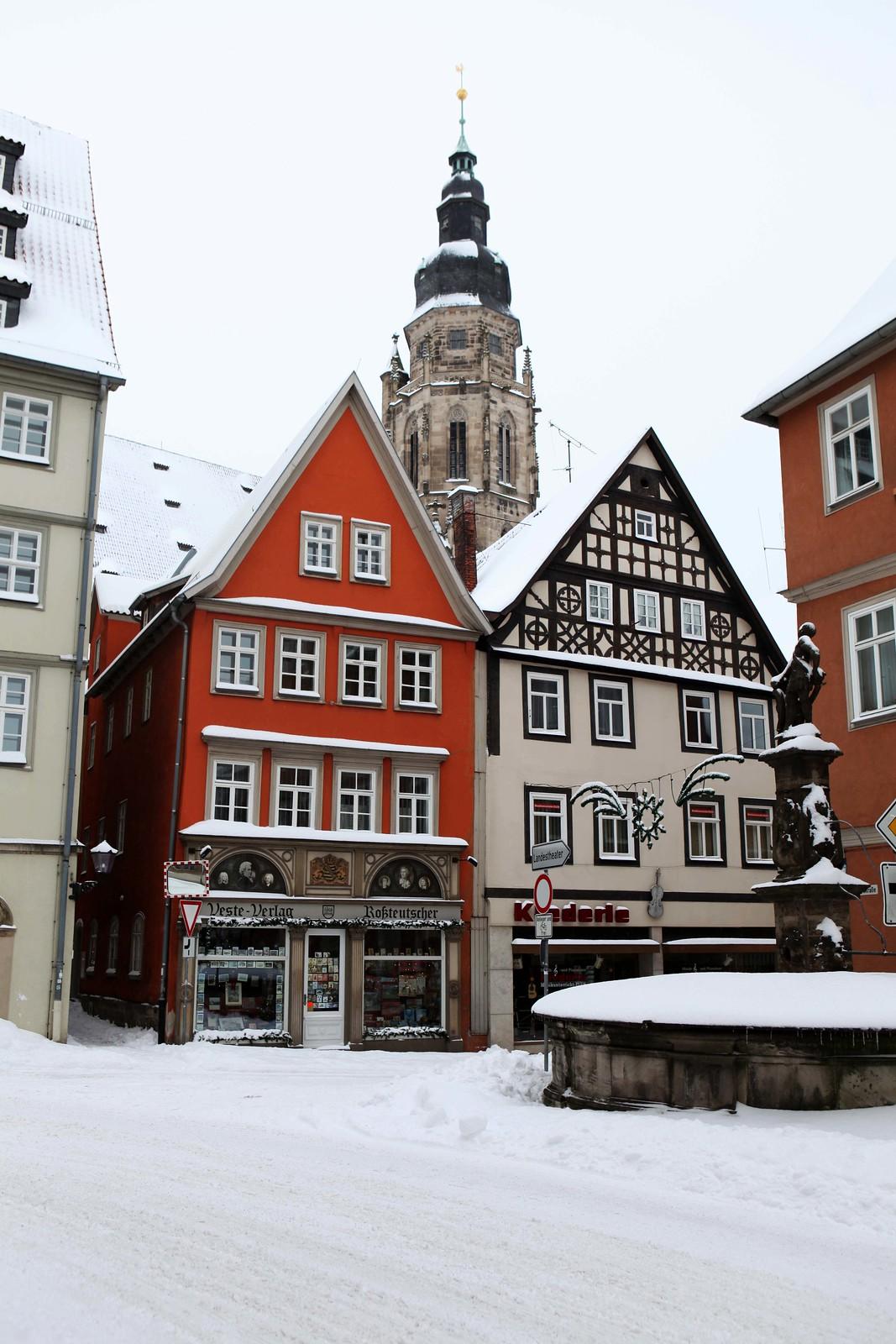 Störfix, Morizkirche Coburg, davor Steingasse 16, 25. Dezember 2010