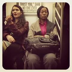 Thursday night 4 train. #nycsubwayportraits #nyc #train #subway #publictransportation #commute #4train
