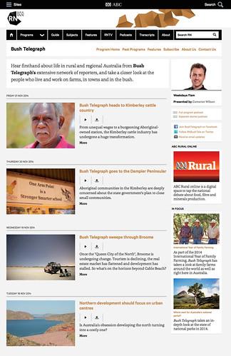 Bush Telegraph - ABC Radio National (Australian Broadcasting Corporation)