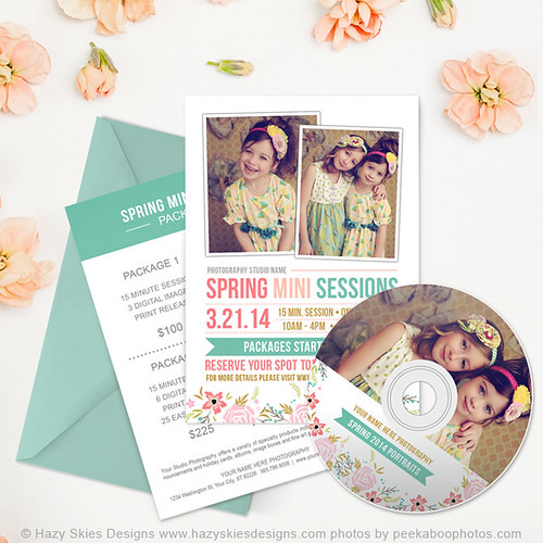 Spring Mini Session Templates for Photographers Photography Marketing Templates www.hazyskiesdesigns.com