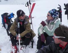Przerwa na lunch na Col de Momin.