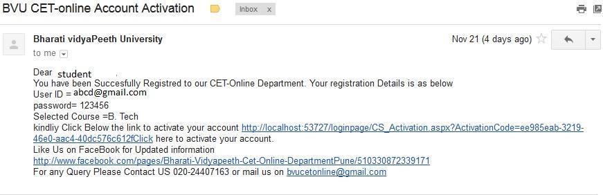 BVP CET Online Application Form