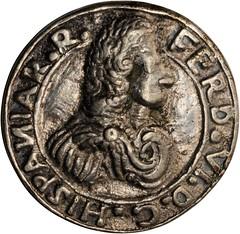 Lot 1011. MEXICO. Veracruz. Cast Silver Proclamation Medal, 1747 obverse