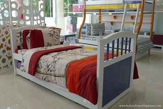 Sample bed set-up using uratex foam at Uratex Showroom Davao