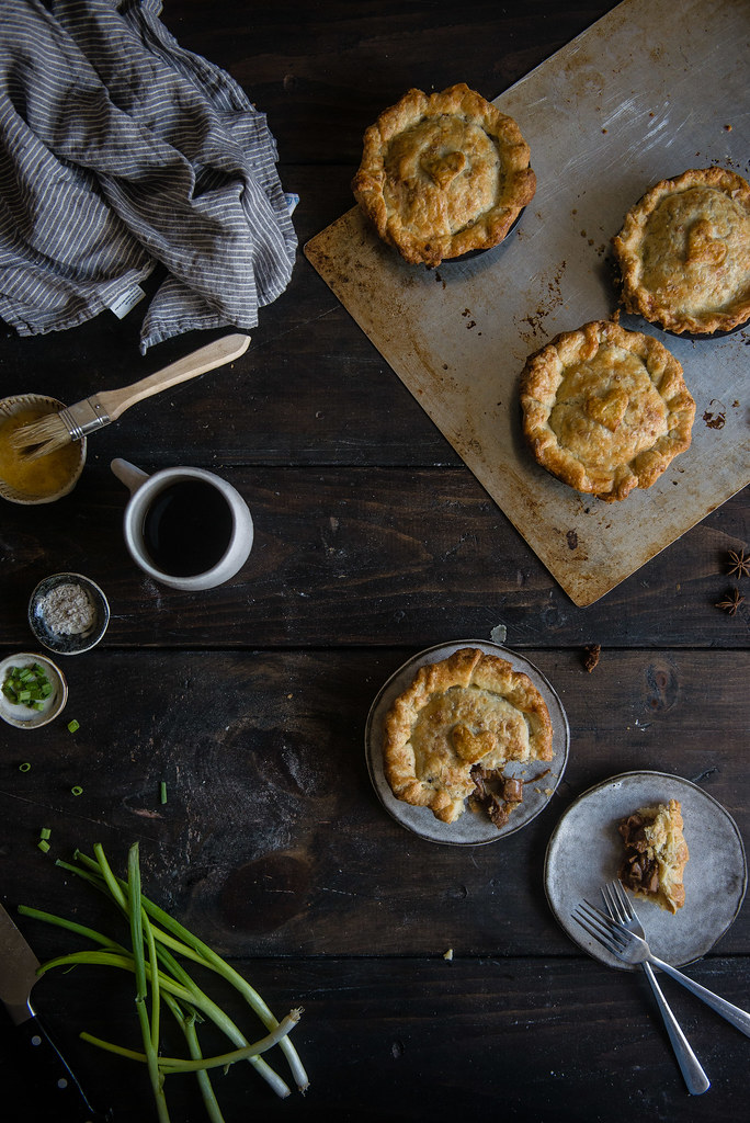 red-cooked pork (hong shao rou) mini pot pies | two red bowls