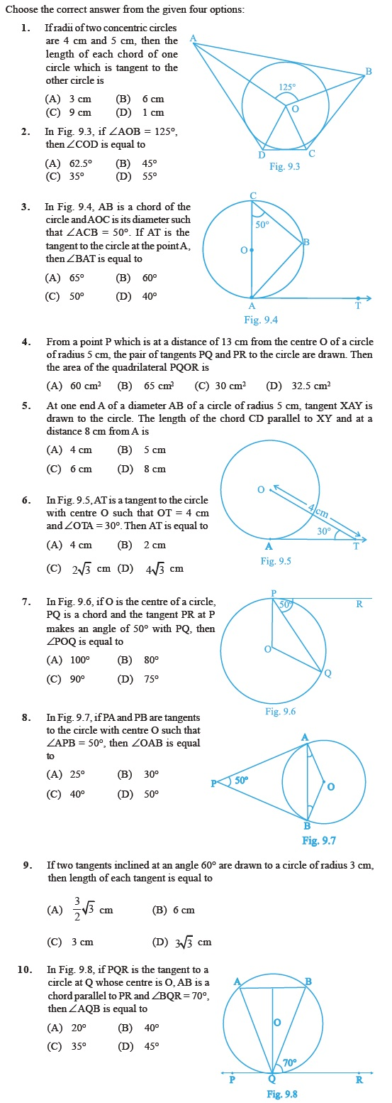 Class 10 Important Questions for Maths – Circles – AglaSem Schools