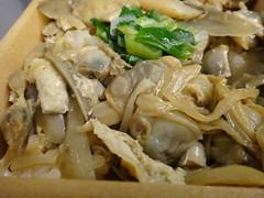 Fukagawa-meshi bento, rice with boiled clams