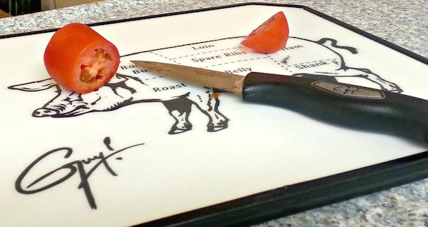 Guy Fieri knife and board