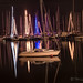 <p>Night shot in December of the Christmas lights on some of the sailboats in the Kinsale marina.</p>