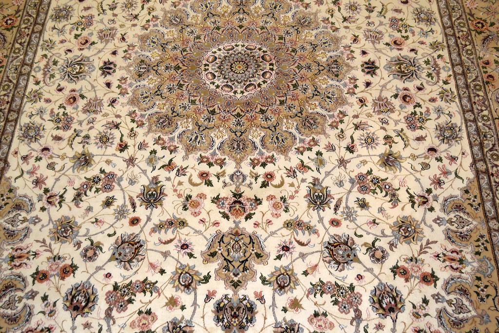 Pair Isfahan Esfahan Kaf Abrisham 7x10 persian Fine Area Rug (13)