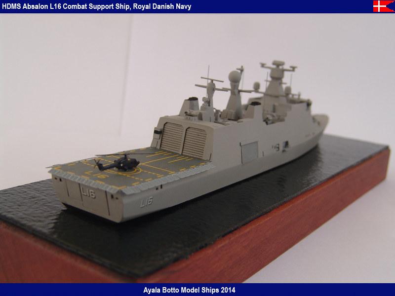 HDMS Absalon L-16  Navire de Soutien Multifonctions - NNT 1/700 16022122224_a03d51481e_c