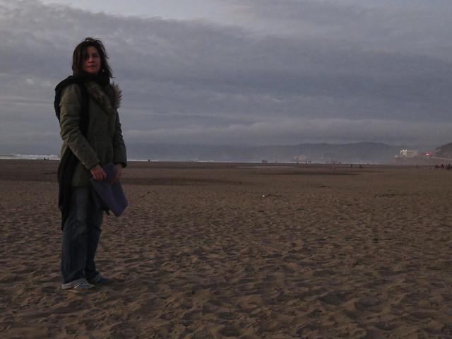 Maite on Ocean Beach.  San Francisco (2014)