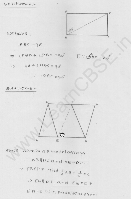 RD Sharma Class 9 Solutions Chapter 14 Quadrilaterals Ex 14.3 2
