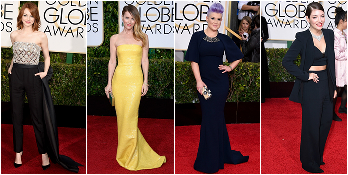 Best Dressed Golden Globes 2015 Colour and Suits