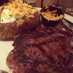 Still don't know what to eat for dinner tonight? I'm sure you'll get some ideas like this Ribeye cooked medium well from Firebirds! See more of Hungry Humpday at www.PsychoPandaStreetwear.com #Humpday #hungry #dmv #official #illest #eatwell #lovewhatyouea