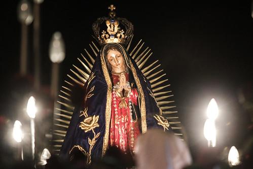 Así lució la Virgen de Guadalupe durante el recorrido del 2014.