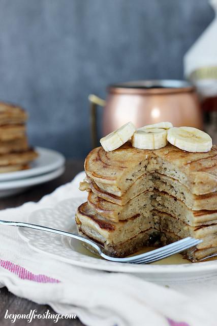 Healthier Peanut Butter Pancakes.