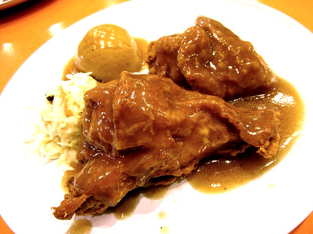Sugar Bun broasted chicken with gravy