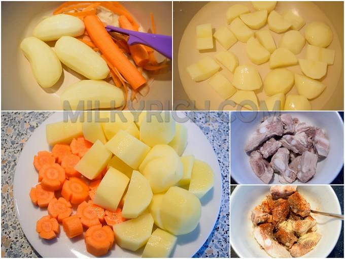 Sườn heo - khoai tây - 2