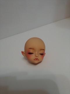FS Lati Yellow Bat Children Sleeping head Lea with elf ears tan skin (head only)