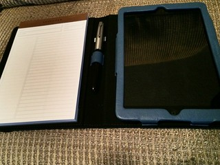 Levenger Work and Play iPad Mini folio, from their outlet store