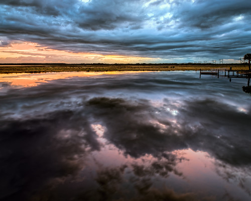 sky panorama usa cloud plant reflection reed water grass weather sunrise river landscape dawn dock florida cloudy candid swamp existinglight marsh cocoa centralflorida peoplephotography edrosack