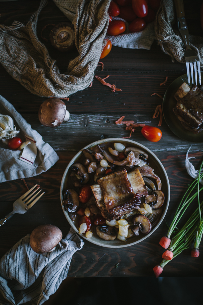 Braised Beef Short Ribs With Fennel + A Le Creuset Giveaway by Eva Kosmas Flores | Adventures in Cooking