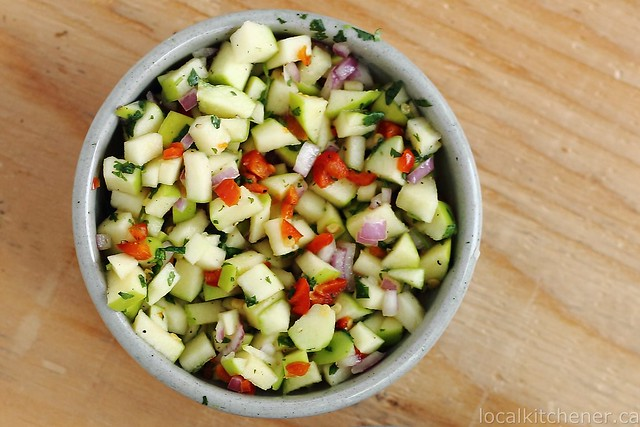 winter de gallo apple salsa