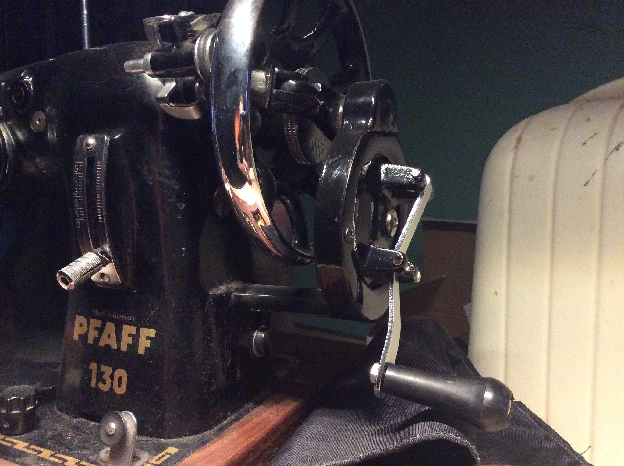 Vintage Sewing Machines For Diy Bikepacking Gear Mtbrcom Necchi Bu Machine Threading Diagram Pfaff 130 Handcrank Attachment
