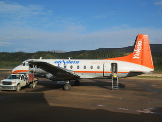 My ride from YXY (Whitehorse) to YEV (Inuvik) in Old Crow, Yukon