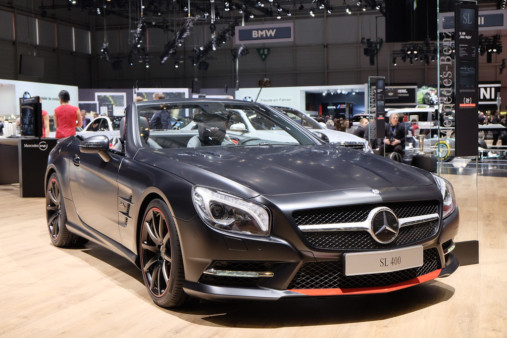 Mercedes SL Special Edition Mille Miglia 417 live photos: 2015 Geneva Motor Show