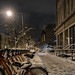 Snow on 12th Street at Night