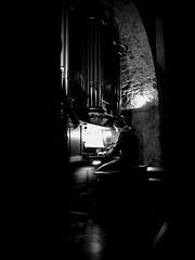 Joueur d'orgue dans l'église Saint Laurent (Ollioules)